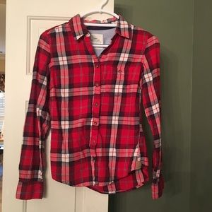 Red Flannel Shirt Size 4